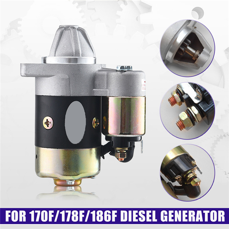 12V 0.8KW QD114A Motor Starter Electric Starter Made Of Copper used on 170F 178F 186F Engine.Good Quality Used In diesel 170f 178f 186f 188f 192f engine parts the starter motor two choice please check rotation of the starter