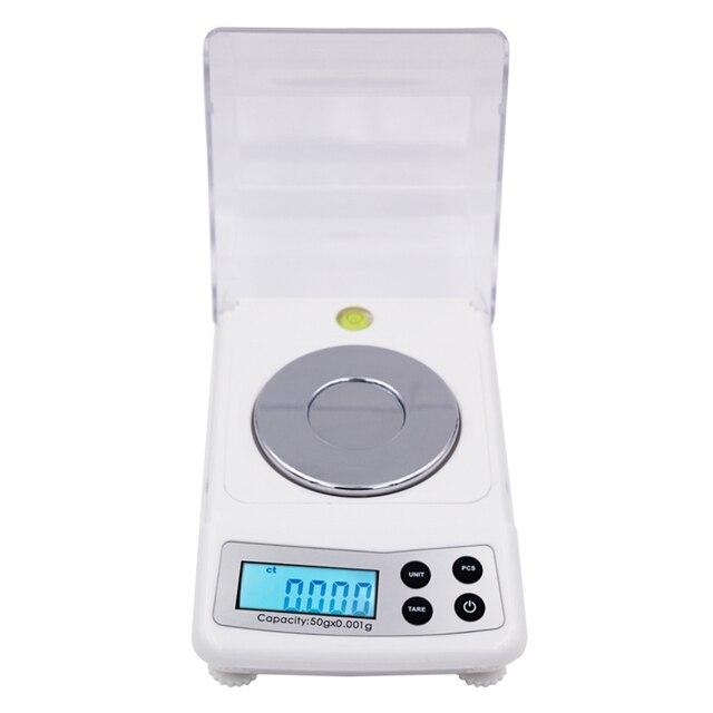 Hoge Precisie 50g 0.001g Elektronische Digitale Weegschaal Sieraden Balance Gram Weegschalen 20%