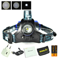 Boruit B9 XM-L T6 LED Headlamp 2000Lm USB Rechargeable ZOOM Headlight AAA LED lampe frontale +2x 18650 Protection Board Battery