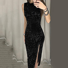 Женское сексуальное платье, Vestidos De Festa, без рукавов, с блестками, облегающее, для вечеринки, платья для свадьбы, выпускного, торжественное платье, Dames Jurken, женское платье