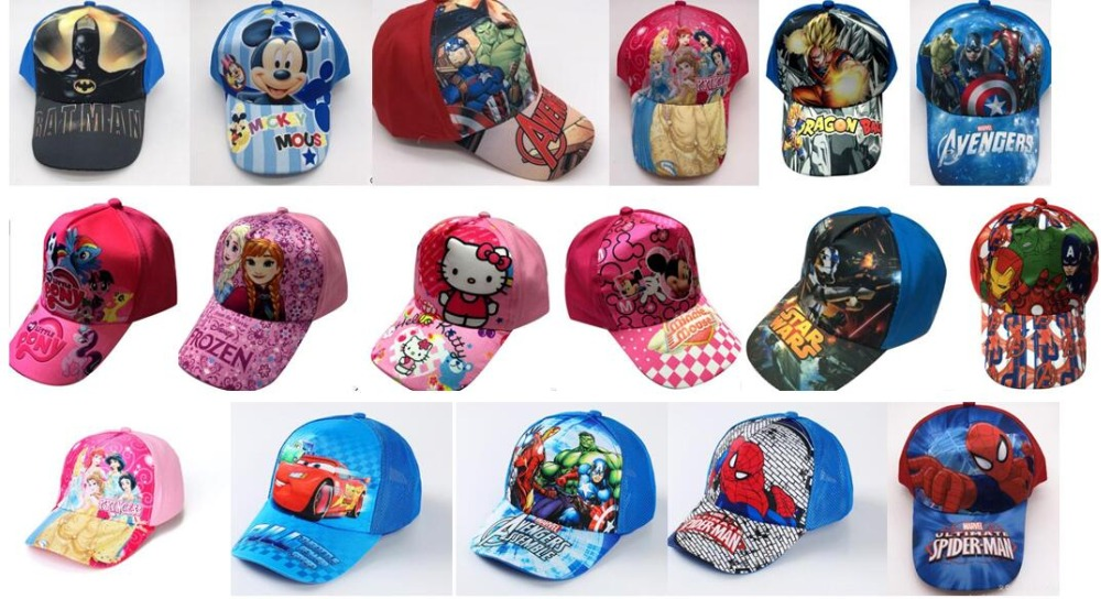 Good 1pcs Cartoon Mickey Minnie Princess Avengers Mix Boy Girl Fashion Sun Hat Mario Casual Cosplay Baseball Cap Children Party Gifts Kleidung & Accessoires