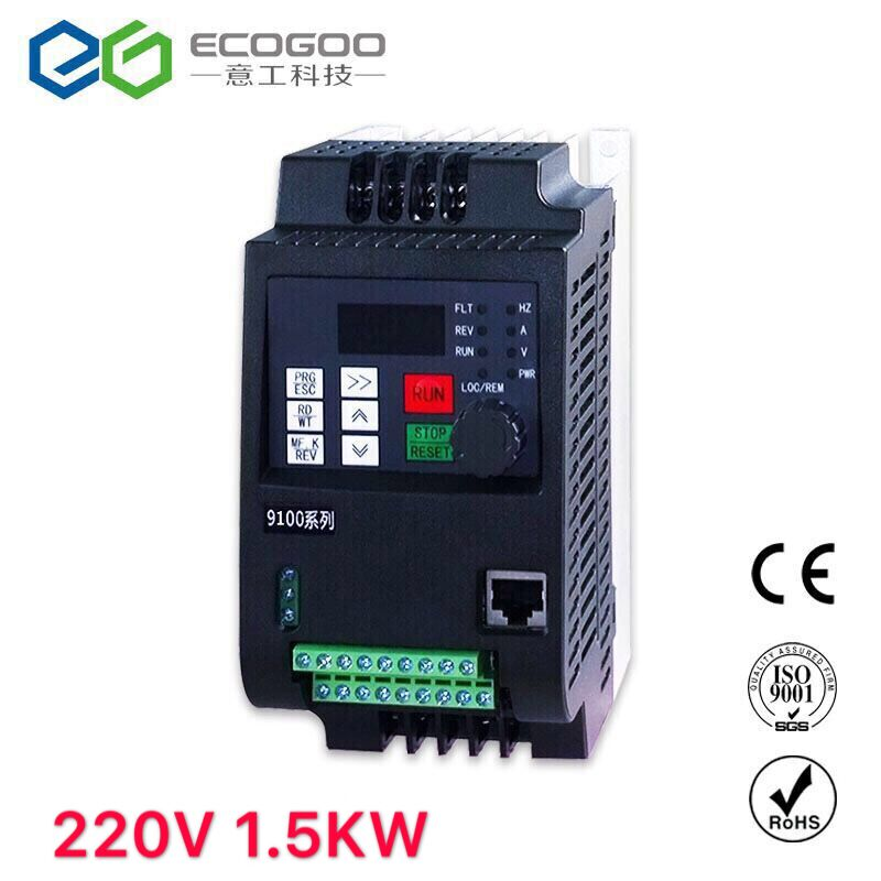Frequency Converter ZW-S2015 1.5KW VFD Frequency Inverter single phase Input 220v 3-phase output motor without control lineFrequency Converter ZW-S2015 1.5KW VFD Frequency Inverter single phase Input 220v 3-phase output motor without control line