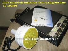 220 V de Alta quanlity 500E Manual de Inducción Electromagnética papel de aluminio Sellado De La Máquina de Embalaje, Plástico Portable Sealer15-100MM