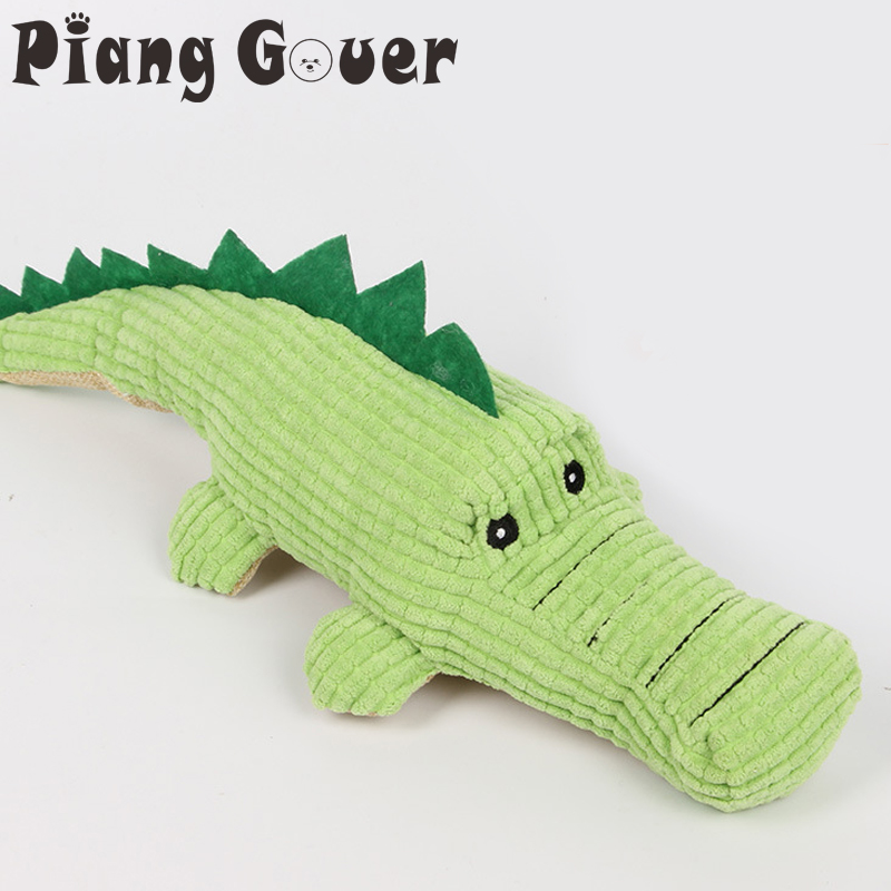 Crocodile Dog Toys Plush Soft Cat Chew Squeaker Pet Toy For Interactive Bite Sound Toys Chihuahua Puppy Toys-in Dog Toys from Home & Garden