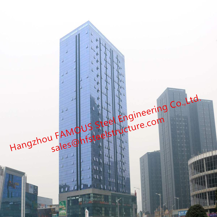 China EPC Project Of Multi-storey Steel Building For Modern Glass Curtain Wall Office Building