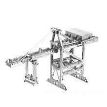 3D Metal Puzzle Dock crane building Model DIY Laser Cut Assemble Jigsaw Toys Desktop