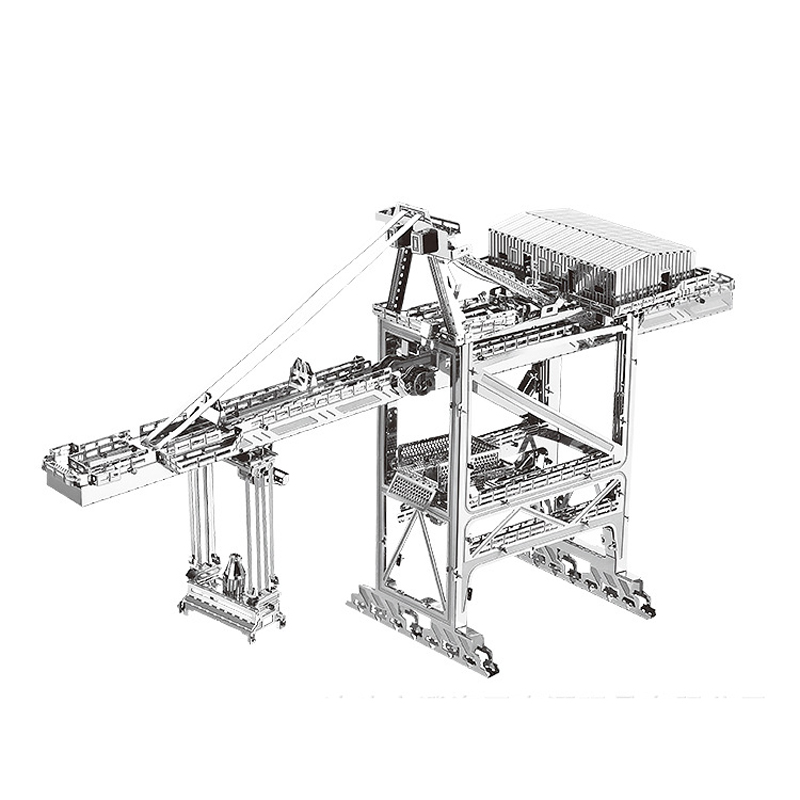Nanyuan 3D Métal Puzzle Dock grue Modèle de bâtiment DIY Laser Cut Assembler Puzzle Jouets De Bureau décoration CADEAU Pour Vérification