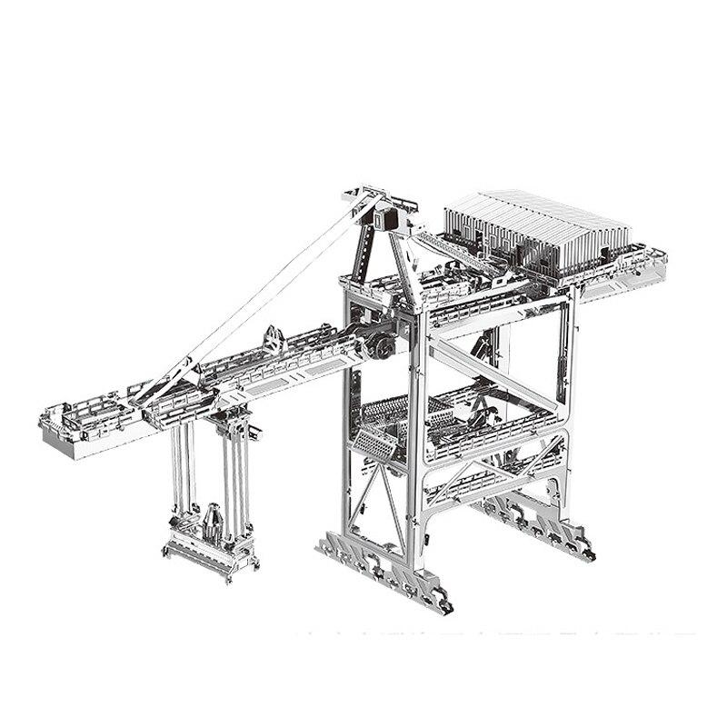 Nanyuan 3D Metal Puzzle Dock crane building Model DIY Laser Cut Assemble Jigsaw Toys Desktop decoration GIFT For Audit