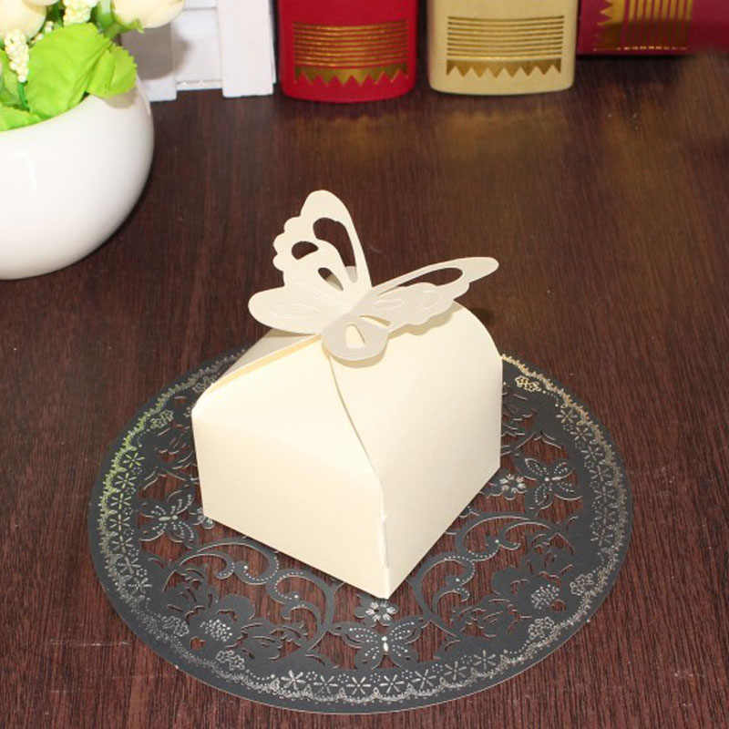 10Pcs Rregalos e boda Folding DIY Schmetterling Hochzeit Süßigkeiten Box Für Ideen Hochzeit Gefälligkeiten Und Geschenke Boxen Hochzeit Dekoration
