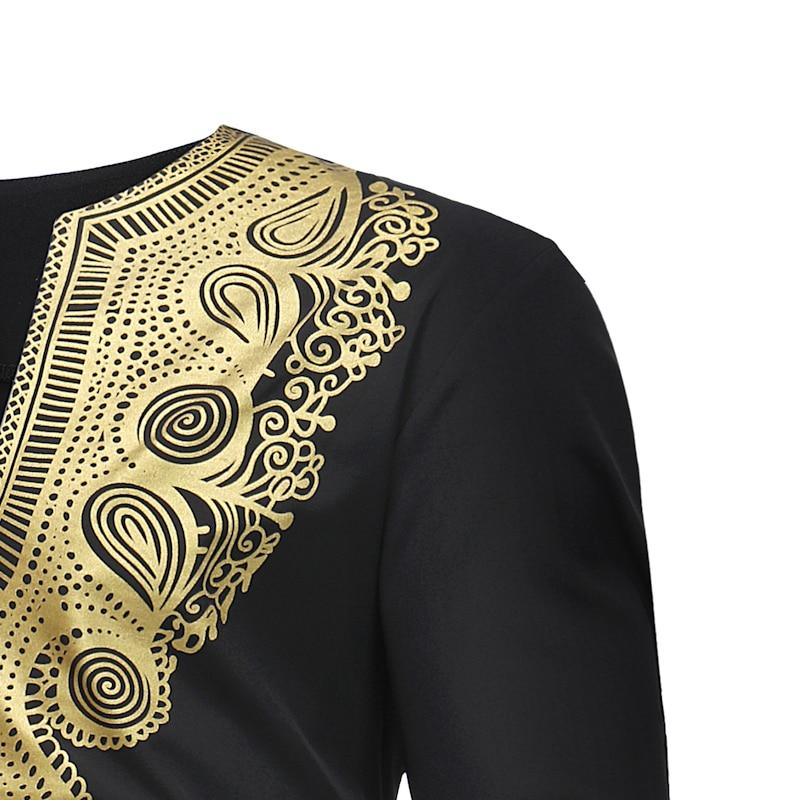 Hot 2018 Spring Men's T-shirt Tops Casual Fashion Ethnic Print Long-sleeved T-shirt Wholesale Men's Clothing (2)