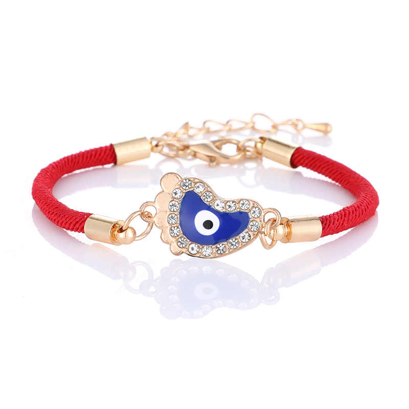 Bracelet en fil rouge tressé à la main classique charme turc mauvais œil chaîne Lucky Hamsa Bracelet pour hommes femmes Brithdays cadeau bijoux