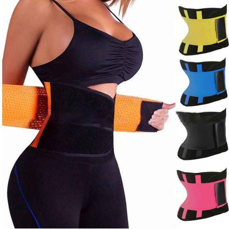 23140ad9b18b7 Women Waist Trainer Corset Abdomen Slimming Body Shaper Sport Girdle Belt  Exercise Workout Aid Gym Home