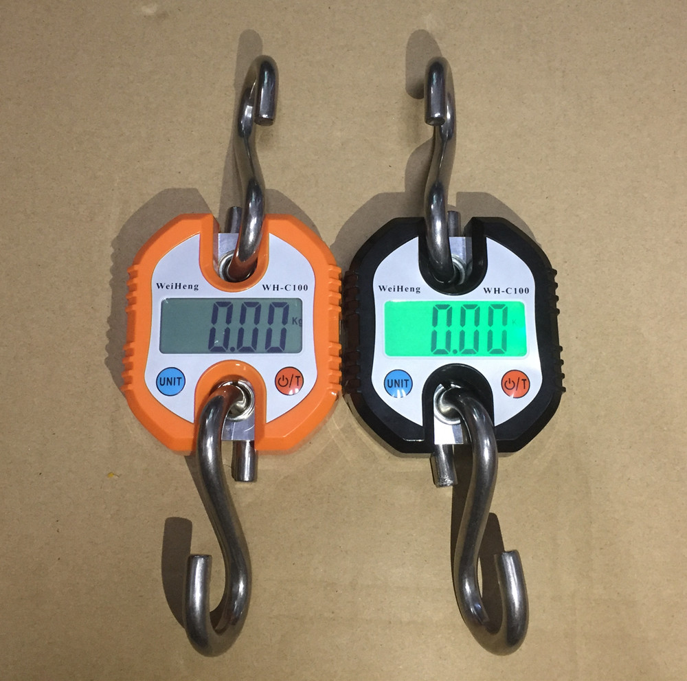 150kg Portable Digital Hanging Scale Electronic Crane Fishing Balance Weight Scale Hook 50 pcs lot free