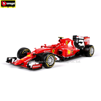 Bburago 1:24 2017 Ferrari F1 manufacturer authorized simulation alloy car model crafts decoration collection toy tools