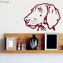 Weimaraner Hund Wandtattoo Vinyl Aufkleber Wohnkultur, Weimaraner Hund Kopf Kunstwand, Wohnzimmer, schlafzimmer, küche Wanddekoration