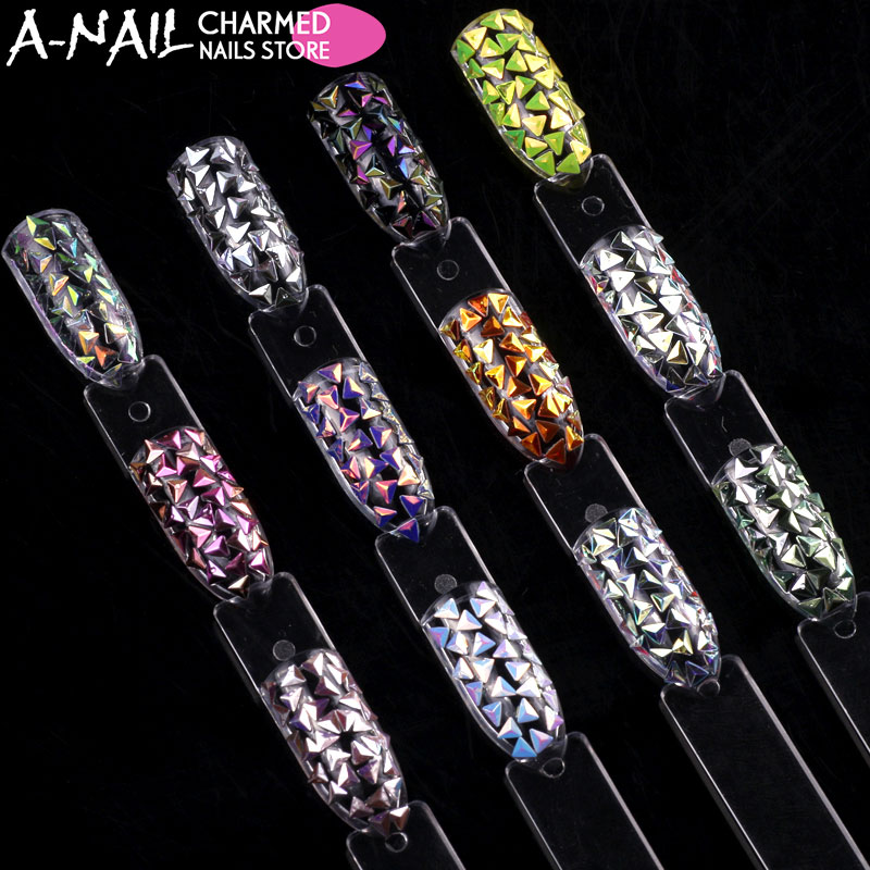12 colors/ set Three-dimensional diamond Shiny sequins Confetti Pyramid shaped design Acrylic Tips UV gel nail decorations tools a three dimensional embroidery of flowers trees and fruits chinese embroidery handmade art design book