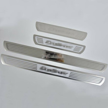 Car Door Sill Scuff Plate Trim Welcome Pedal Cover Stickers Styling Accessories For Ford Ecosport 2013 2014 2015 2016 2017 2018