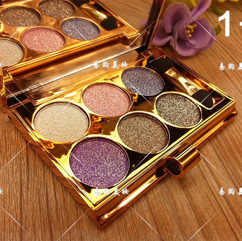 6 Colors Diamond Bright Eyeshadow Makeup Palette Naked Smoky Make Up Set Eye Shadow Professional Cosmetic With Brush Maquillage naked palette eyeshadow makeup waterproof 12 color glitter shimmer make up colors naked pigments professional eyeshadow palette
