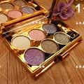 6 colores diamante brillante sombra de ojos paleta de maquillaje naked smoky maquillaje set sombra de ojos cosmética profesional con el cepillo maquillage
