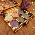 6 cores diamante brilhante eyeshadow makeup palette naked smoky maquiagem definir a sombra de olho cosmética profissional com escova maquillage