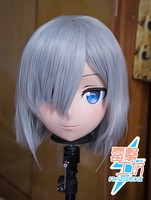 (KM91844)Top Quality Handmade Female Resin Full Head Cosplay Japanese Role Play Hamakaze Anime Kigurumi Mask Crossdresser Doll