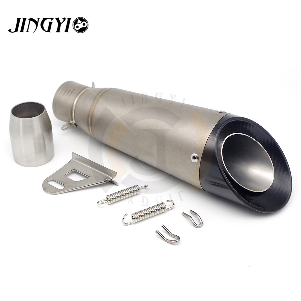 Inlet 51mm Universal Modified Escape Moto Exhaust Motorcycle Scooter Dirt Bike Muffler Pipe FOR Bajaj Benelli 51mm universal motorcycle dirt bike exhaust escape modified scooter sport exhaust muffle fit for z750 z800 er6n r1 gsxr 600 atv