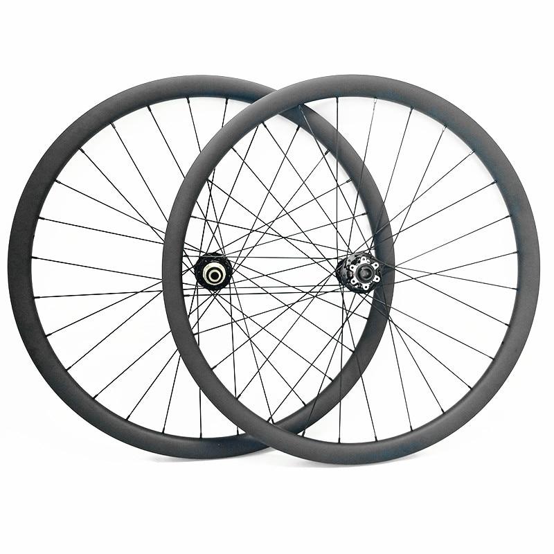 mtb 29 wheels disc 29er 35x25mm asymmetry tubeless mtb disc wheels novatec hubs wheelset boost 110x15mm