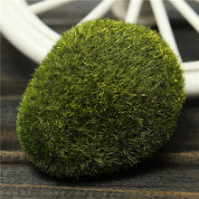 Newest 1Pcs Green Artificial Moss Stones Grass Bryophytes Plant Pot Home Garden Pot Bonsai DIY Landscape Decoration Resin Crafts(China)