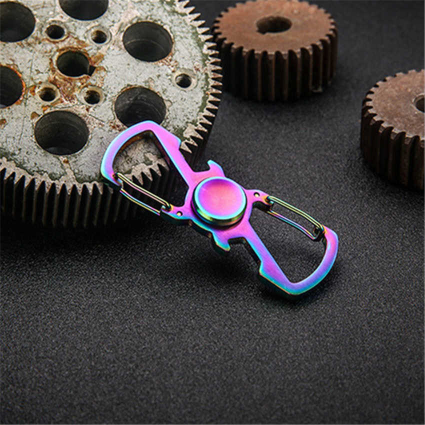 Фиджет-Спиннер Ручное Вращение пальцами брелок для ключей Топ EDC металлический подшипник игрушки для детей детский ручной Спиннер