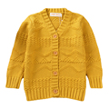 Kids Autumn Winter Sweater 2016 New Casual Knitted Cotton Cardigan Jacquard Long Sleeve V-neck For Age 18M-5Y GW12