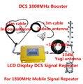Pantalla LCD! Mini DCS 1800 MHZ repetidor móvil de la señal de 4G LTE FDD, DCS de la señal celular booster + 2 antenas de techo para el hogar/oficina