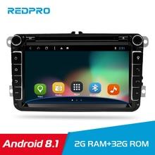 Android 8.1 Car DVD gps Stereo Player Audio Multimedia For VW/Skoda/Golf/Polo/seat AUX Rds Radio GPS Wifi DAB+Headunit auto цена