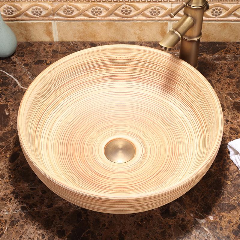 buena calidad encimera de porcelana lavabo lavabos fregadero del recipiente de cermica taznchina