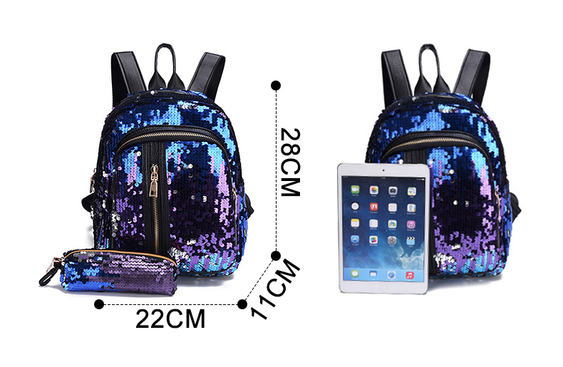 Detail Feedback Questions about Women s Glitter Sequins Backpack ... dd914644d537