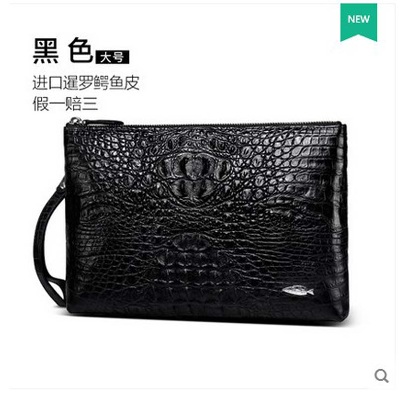 yuanyu The new crocodile leather men clutch bag large capacity men wallet men genuine leather bag цена