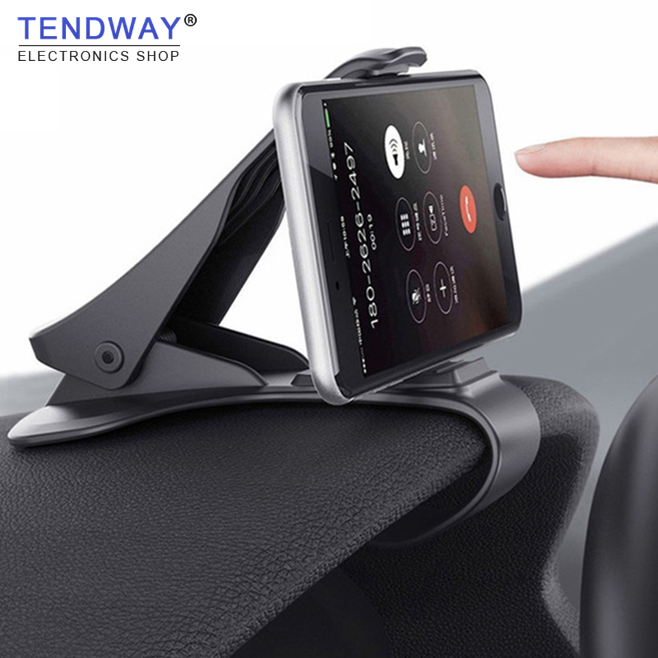Tendway Car Phone Holder GPS Navigation Dashboard Phone Holder For Universal Mobile Phone Clip Fold Holder Mount Stand Bracket