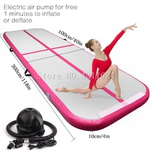 Free Shipping,Free Pump, 3x1x0.1m Gymnastics Inflatable Air Track Tumbling Mat Gym AirTrack For Sale