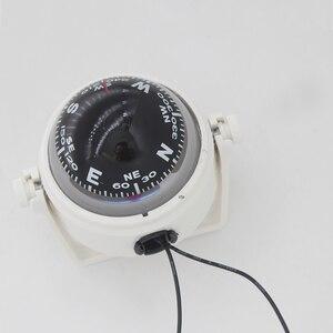 Image 4 - Boussole de Navigation pour voile, blanc/noir, pour bateau, 12V, LED
