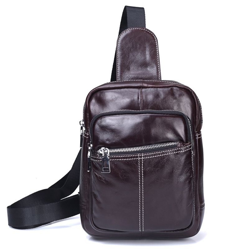 Genuine Leather Bag Men Messenger Bags Brand Small Shoulder Crossbody Bag for Man Belt Waist Pack Men's Leather Chest Bag bull captain2017 fashion genuine leather crossbody bags men small brand music messenger bags male shoulder bag chest bag for men