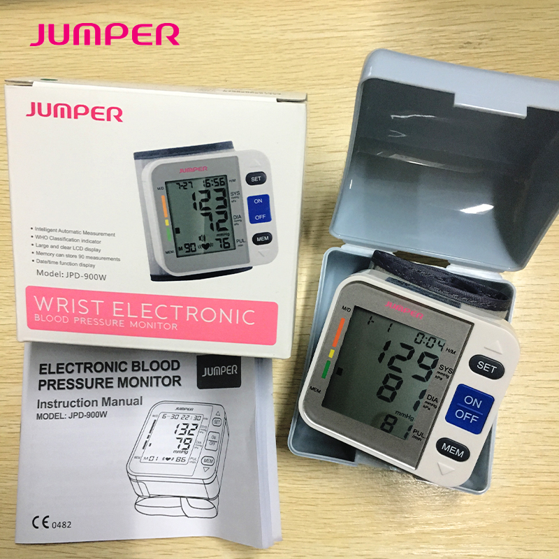 2018 Newest Digital Home Automatic Wrist Blood Pressure Pulse Sphygmomanometer And Tonometer Monitor Heart Beat Meter 40 280mmHg