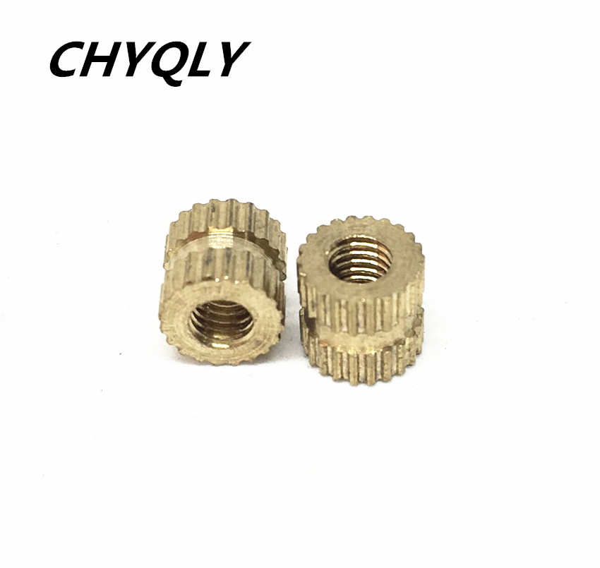 50pcs M2 M2.5 Brass Knurl Nuts Insert Nuts Through-hole Nut For Injection Moulding Insert Round Shape Embedded Nuts цены онлайн