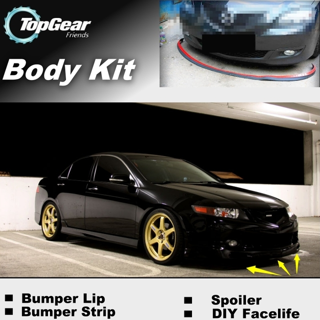 For Acura TSX Bumper Lip Lips Front Spoiler For TOP GEAR - Acura tsx body kit