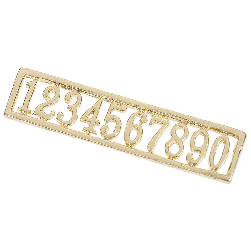 Newest Doll House Metal Digital House Number 1:12 Dollhouse Miniaturas House Accessories Number for DIY Dollhouse Kids Toys