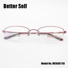 Better Self MC6610 Quality Oval Eyewear Vintage Spectacles Myopia Pure Titanium Glasses Frame Women