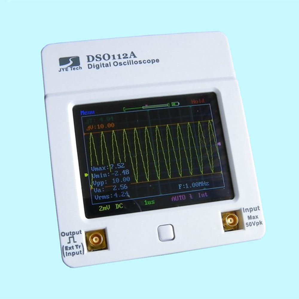 Osciloscopio DSO 112A TFT Touch Screen Tragbare Mini Digital Oszilloskop USB Interface 2MHz 5Msps oscyloskopy osciloscop