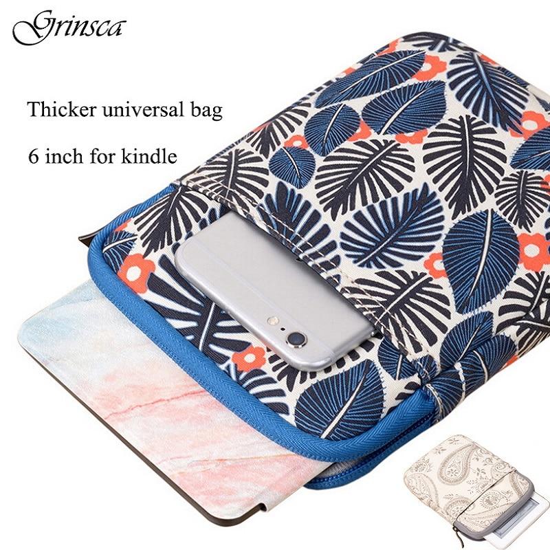 6 inch Shockproof Tablet Bag Sleeve for Kindle Paperwhite Case Kindle 8 Gen for Voyage Cover Pocketbook 623 Pouch Case for kobo