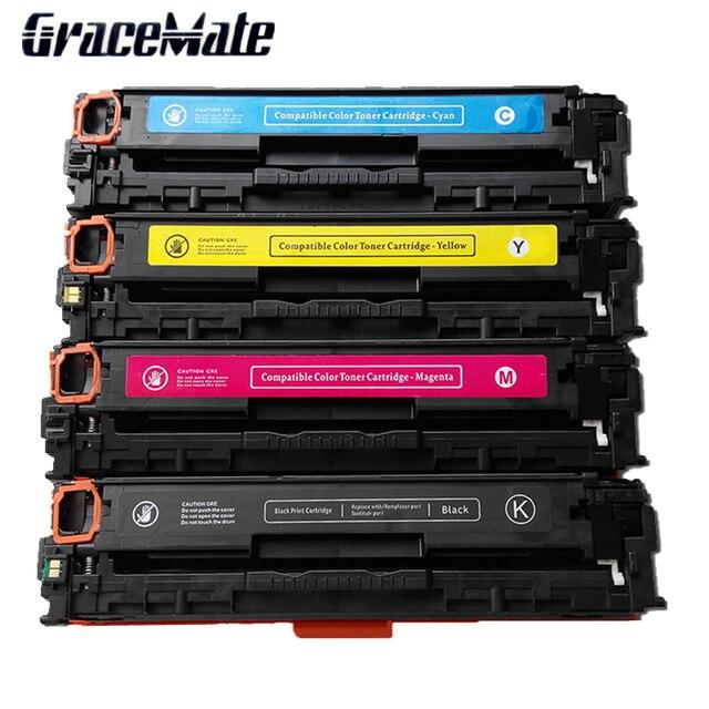 Compatible Color Laser Toner Cartridge Ce410 Ce411 Ce412 Ce413 For