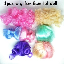 1Pcs Wig Hair for lol Doll 8cm Big Sisters Accessories Can Choose Toy Action Figure Dolls Girls Kids Birthday Gift