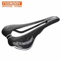 New TOSEEK Full Carbon Fiber Mountain Bike Saddle Road Bike Saddle Bicycle Parts Big Hollow Cushion