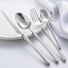 24 шт./лот корейские столовые приборы портативные столовые приборы из нержавеющей стали 304 столовый нож столовый набор столовая посуда золот...